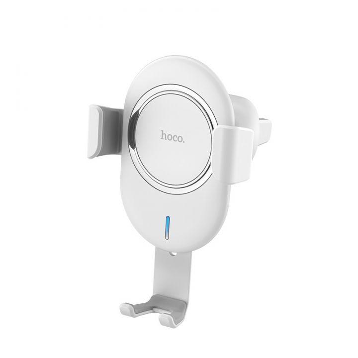 Магнитный авто-держатель с беспроводной зарядкой Hoco CW17 Sage (белый)