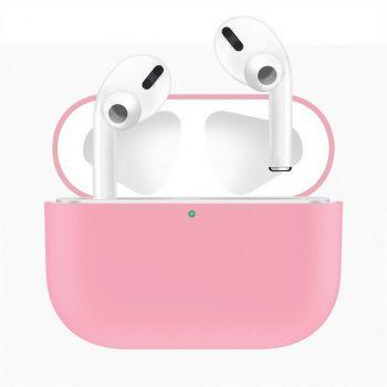 Розовый силиконовый чехол для AirPods Pro