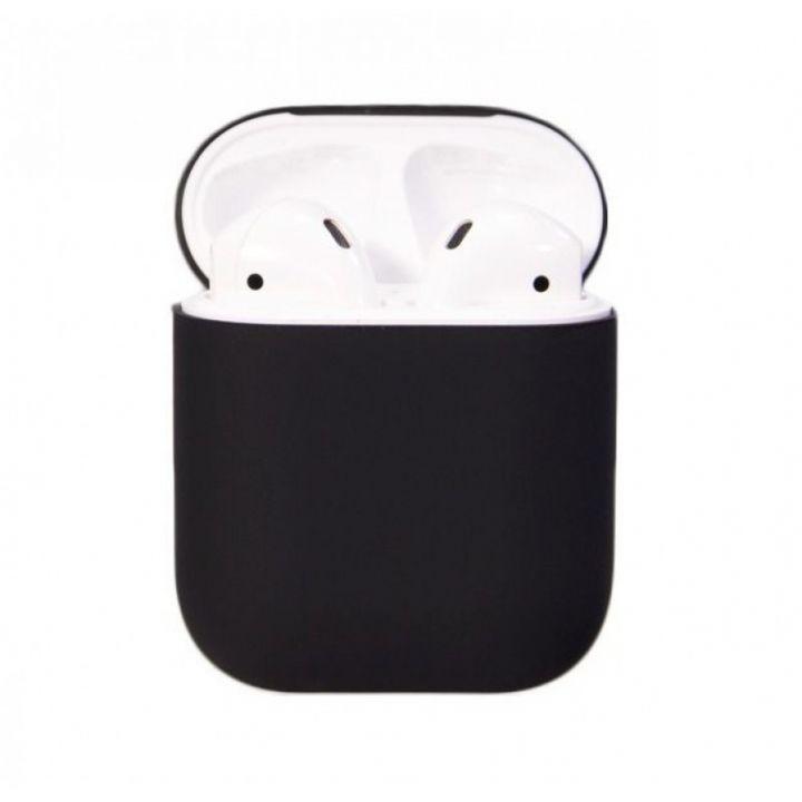 Чёрный силиконовый чехол для AirPods