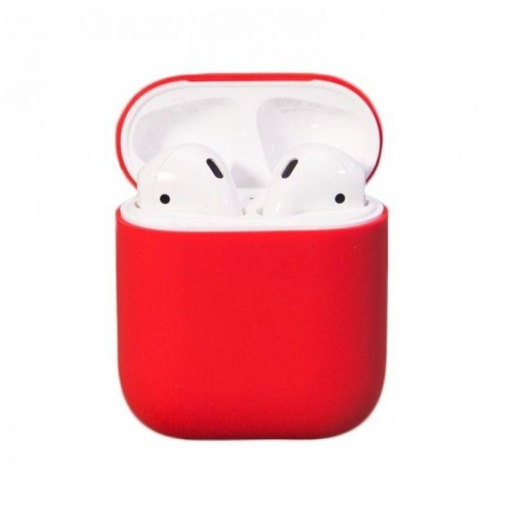 Красный силиконовый чехол для AirPods