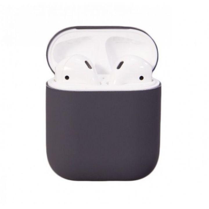 Серый силиконовый чехол для AirPods