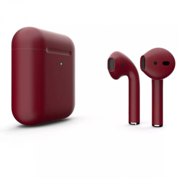 Наушники Apple AirPods 2, бордовые матовые