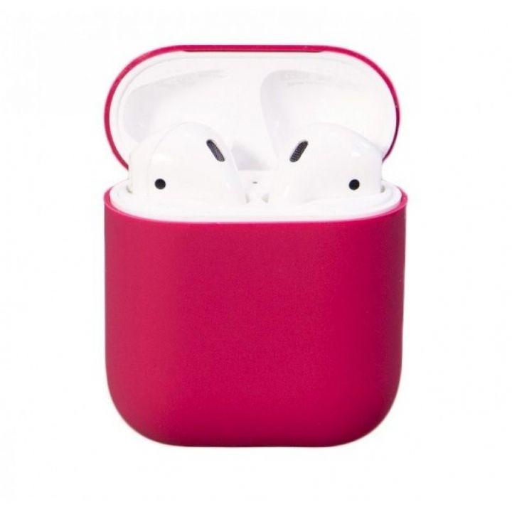 Чехол Soft Touch для AirPods (малиновый)
