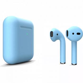 Наушники Apple AirPods 2, голубые матовые
