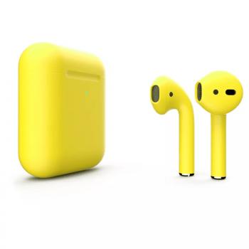 Наушники Apple AirPods 2, жёлтые матовые