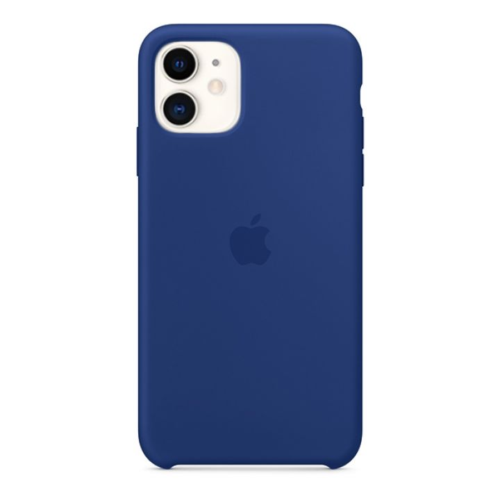 Чехол для iPhone 11 Silicone Case силиконовый сапфировый
