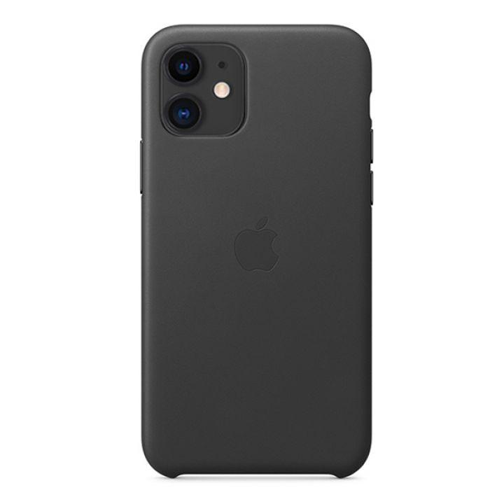 Чехол для iPhone 11 Leather Case кожаный черный