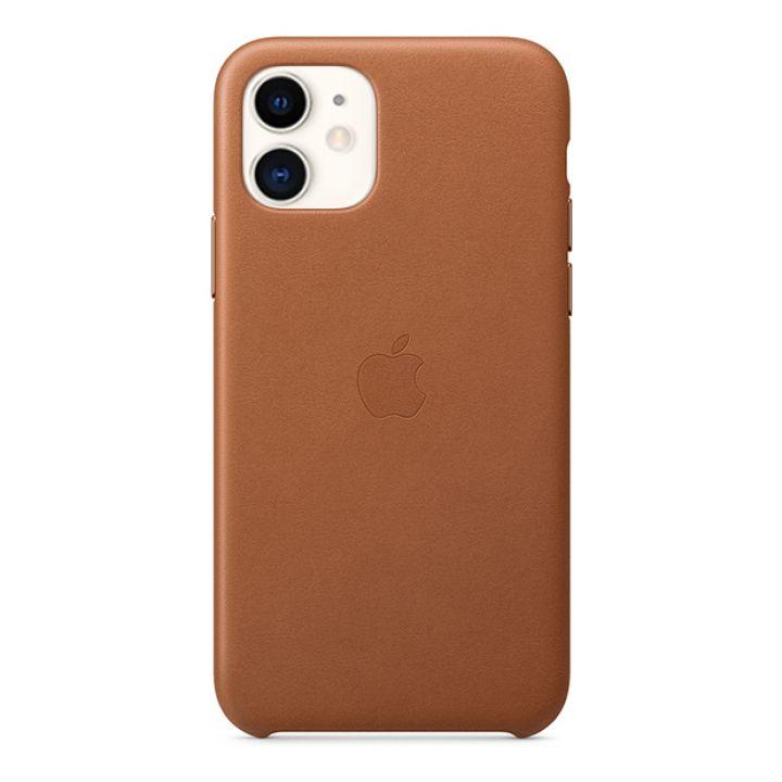 Чехол для iPhone 11 Leather Case кожаный коричневый