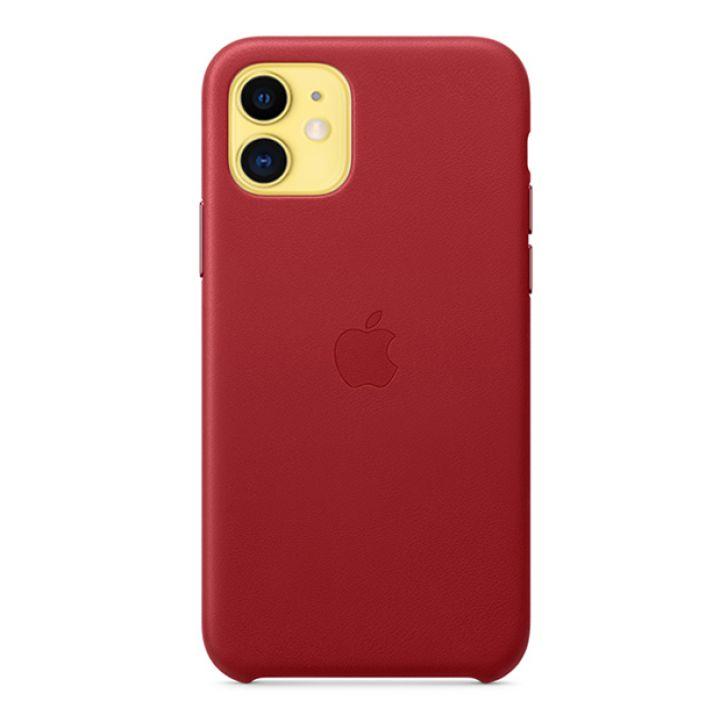 Чехол для iPhone 11 Leather Case кожаный красный
