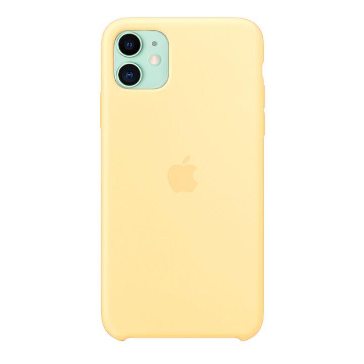 Чехол для iPhone 11 Silicone Case силиконовый желтый