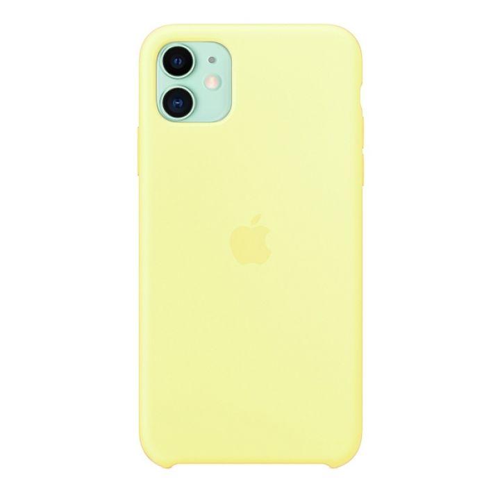 Чехол для iPhone 11 Silicone Case силиконовый лимонный