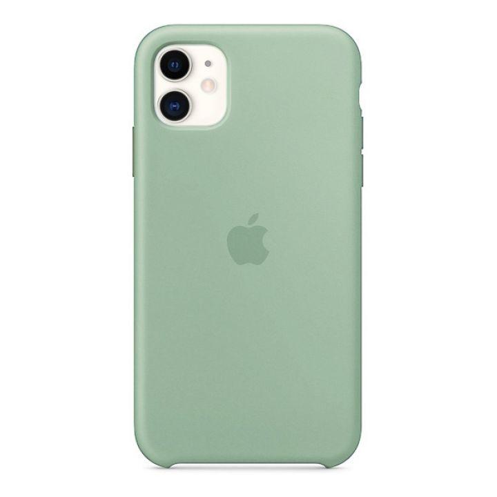 Чехол для iPhone 11 Silicone Case силиконовый мятный