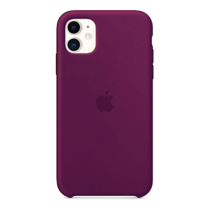 Чехол для iPhone 11 Silicone Case силиконовый сливовый