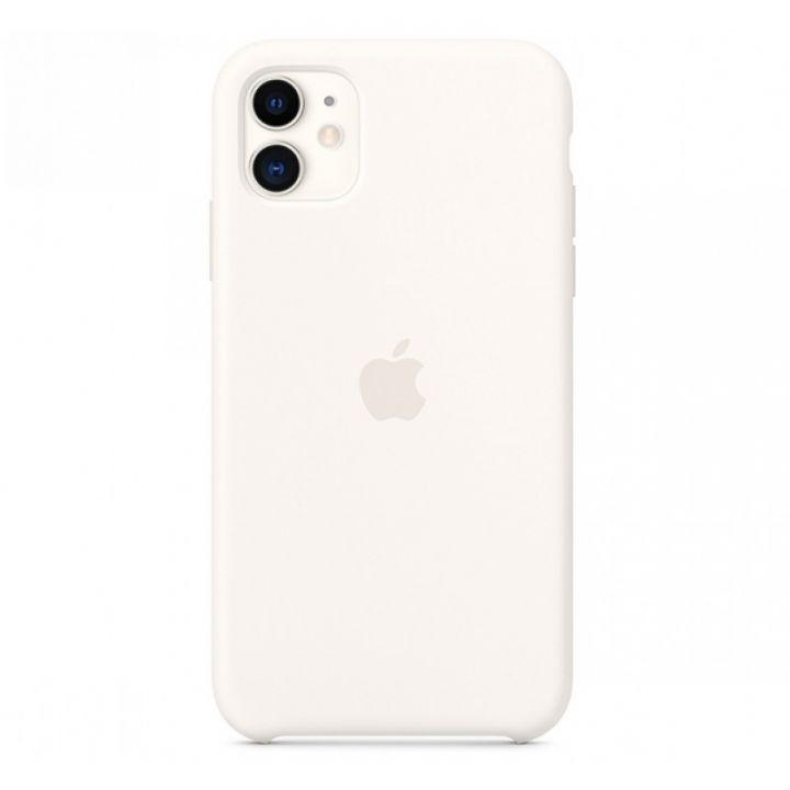 Белый силиконовый чехол для iPhone 11 Silicone Case