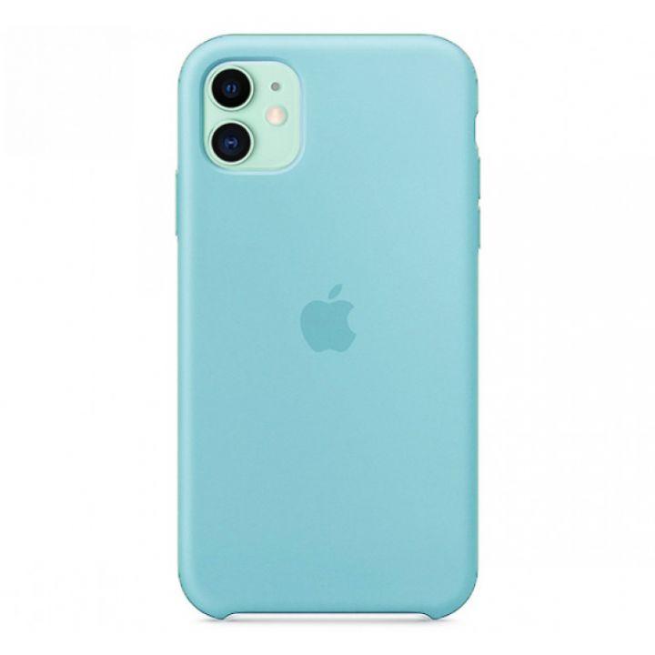 Бирюзовый силиконовый чехол для iPhone 11 Silicone Case
