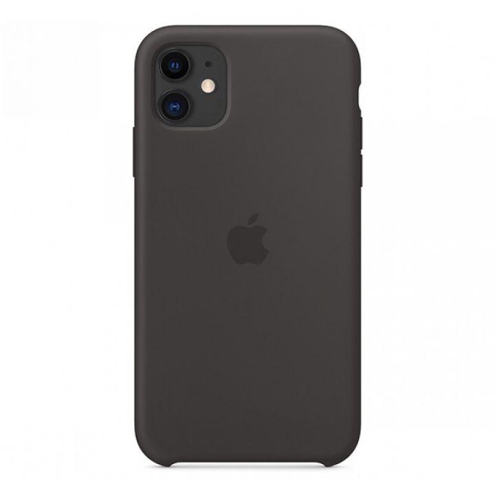 Черный силиконовый чехол для iPhone 11 Silicone Case