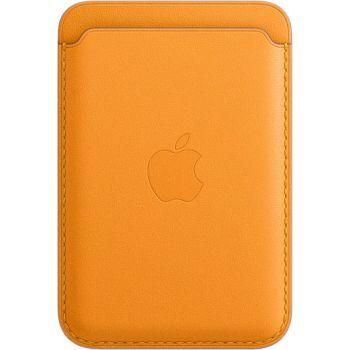 Кожаный чехол-бумажник Apple MagSafe для iPhone 12 Mini, «золотой апельсин»