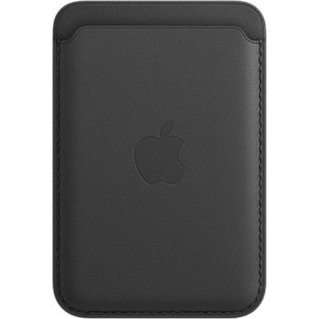 Кожаный чехол-бумажник Apple MagSafe для iPhone 12 Mini, чёрный