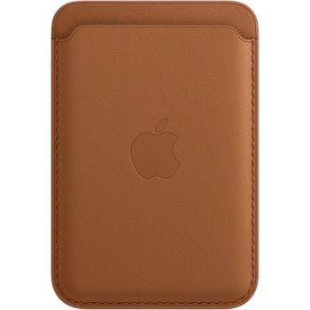 Кожаный чехол-бумажник Apple MagSafe для iPhone 12 Mini, золотисто-коричневый