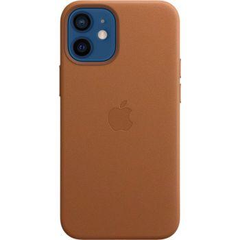Чехол Leahter Case для iPhone 12 Mini, кожа, золотисто-коричневый