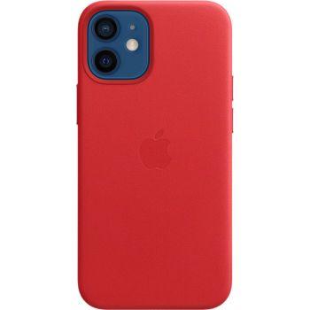 Чехол Leather Case для iPhone 12 Mini, кожа, красный