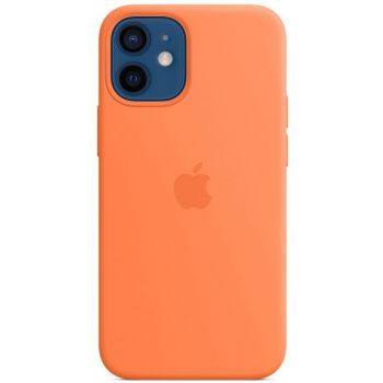 Чехол Silicone Case для iPhone 12 Mini, cиликон, кумкват