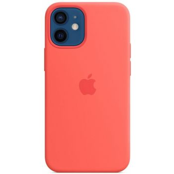 Чехол Silicone Case для iPhone 12 Mini, cиликон, розовый цитрус
