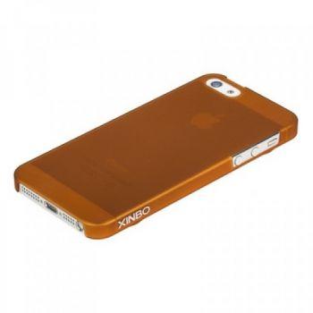 Накладка пластиковая XINBO для iPhone 5/5s/SE коричневая