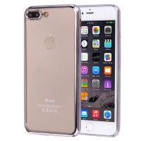 Стильный силиконовый чехол для iPhone 7/8 Plus (Серый ободок)