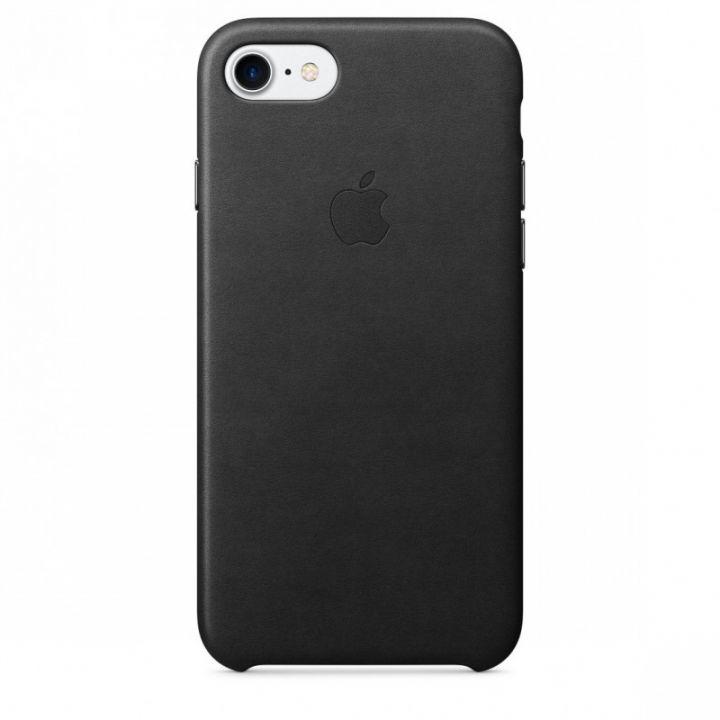 Кожаный чехол Apple для iPhone 7/8/SE2, чёрный цвет