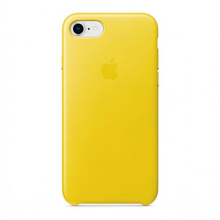 Желтый кожаный чехол для iPhone 7/8/SE2 Leather Case