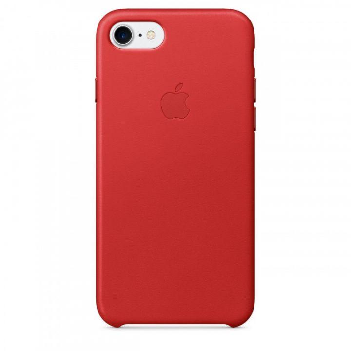 Кожаный чехол Apple для iPhone 7/8/SE2 (RED PRODUCT)