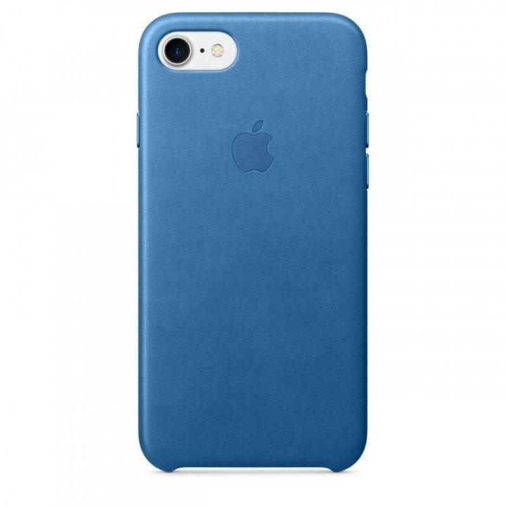 Кожаный чехол Apple для iPhone 7/8/SE2 (синие море)