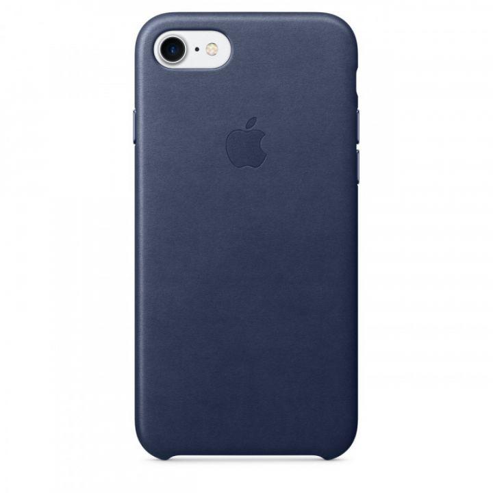Кожаный чехол Apple для iPhone 7/8/SE2 (темно-синий)