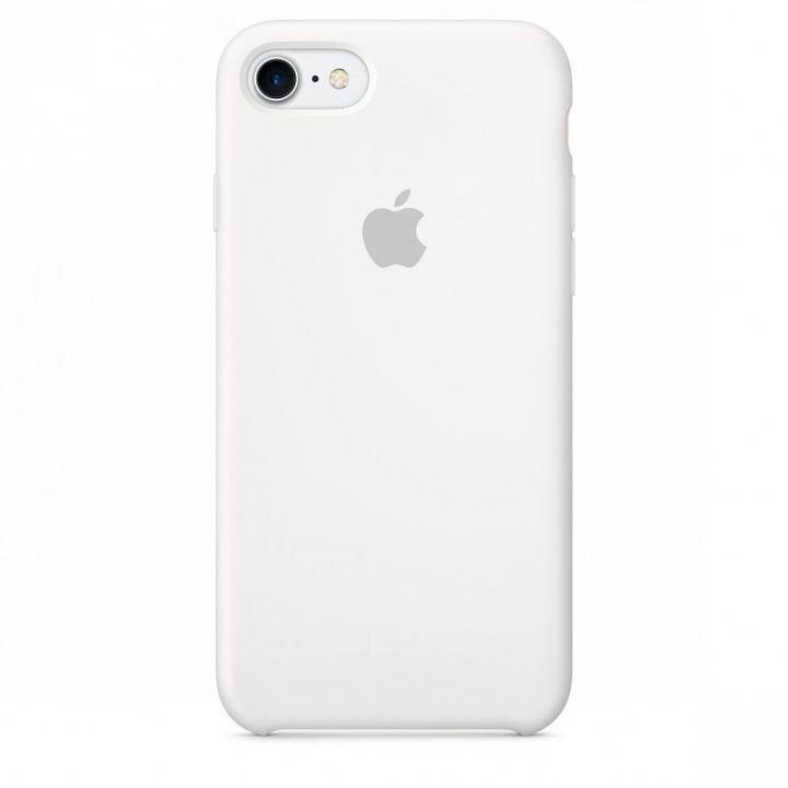 Силиконовый чехол для iPhone 7/8/SE2 (белый)