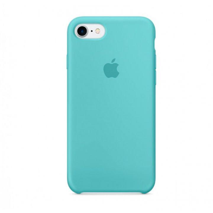 Бирюзовый силиконовый чехол для iPhone 7/8/SE2 Silicone Case