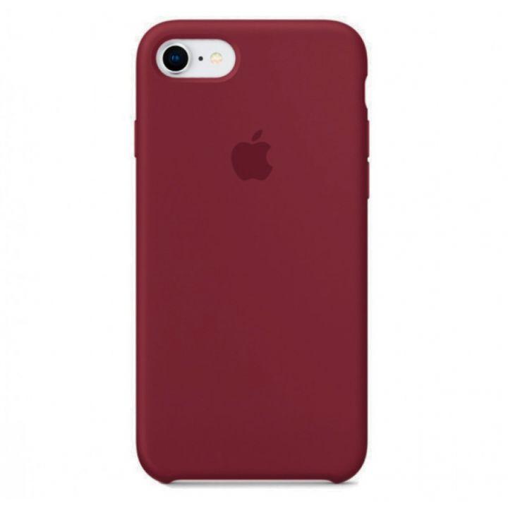 Бордовый силиконовый чехол для iPhone 7/8/SE2 Silicone Case