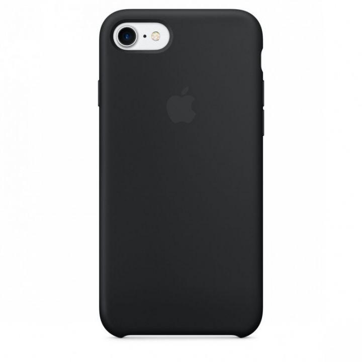 Силиконовый чехол для iPhone 7/8/SE2 (черный)