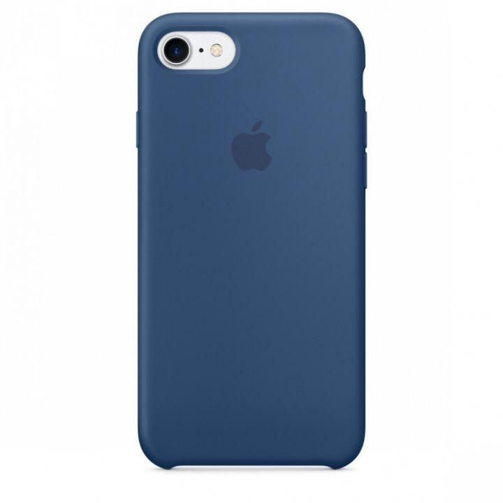 Силиконовый чехол для iPhone 7/8/SE2 (Глубокий синий)