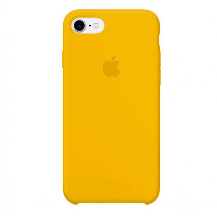 Желтый силиконовый чехол для iPhone 7/8/SE2 Silicone Case