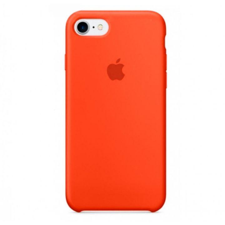 Оранжевый силиконовый чехол для iPhone 7/8/SE2 Silicone Case