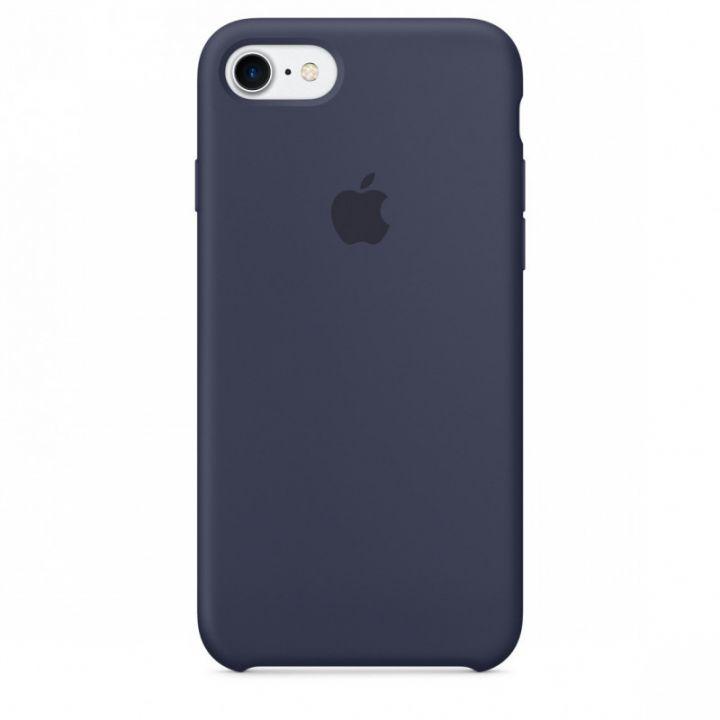 Силиконовый чехол для iPhone 7/8/SE2 (темно-синий)
