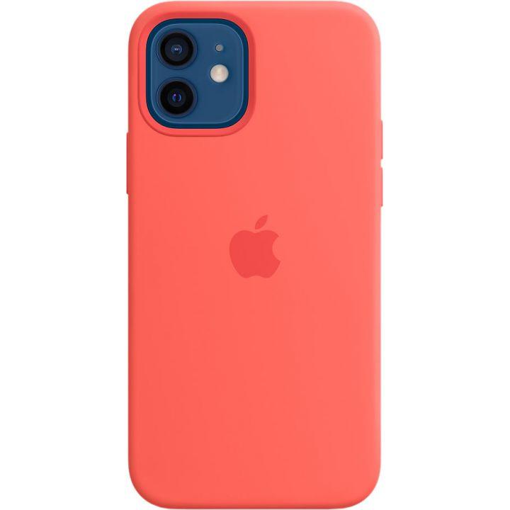 Чехол Silicone Case для iPhone 12/12 Pro, cиликон, «розовый цитрус»