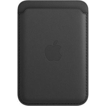 Кожаный чехол-бумажник Apple MagSafe для iPhone 12 / 12 Pro, чёрный