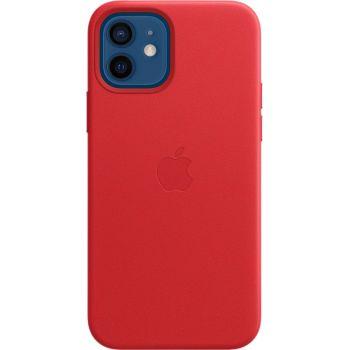 Чехол Leather Case для iPhone 12/12 Pro, кожа, красный