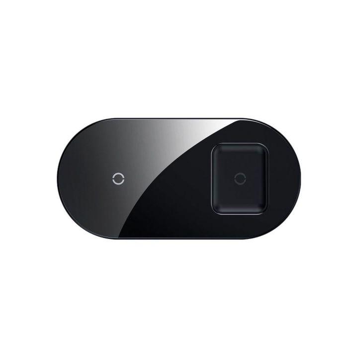 Беспроводное зарядное устройство Baseus Simple 2in1, чёрный