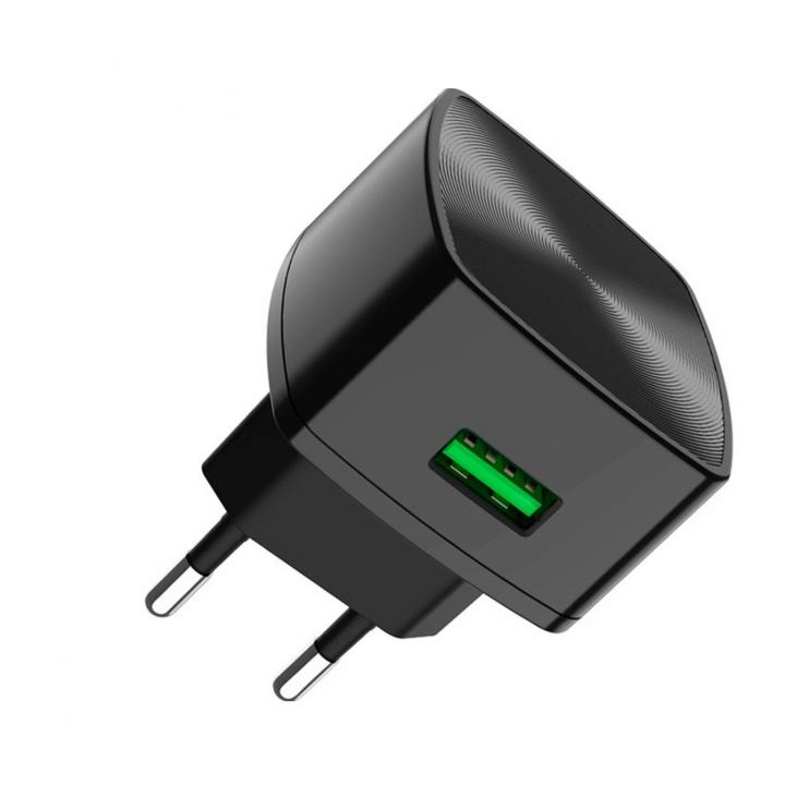 Сетевая зарядка Hoco C70A QC 3.0, цвет черный