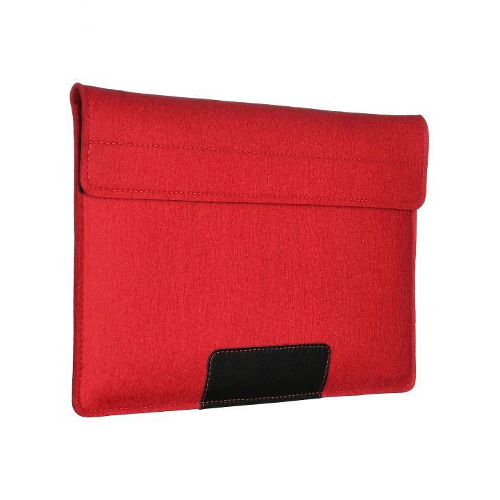 Чехол-конверт Alexander для MacBook 12'', войлок и кожа, красный