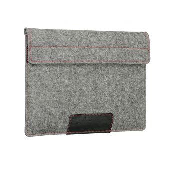 Чехол-конверт с карманом Alexander для MacBook 12'', войлок и кожа, светло-серый