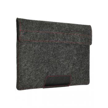 Чехол-конверт с карманом Alexander для MacBook 12'', войлок и кожа, тёмно-серый